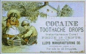 Cocaine Toothache Drops Advertisement, 1885